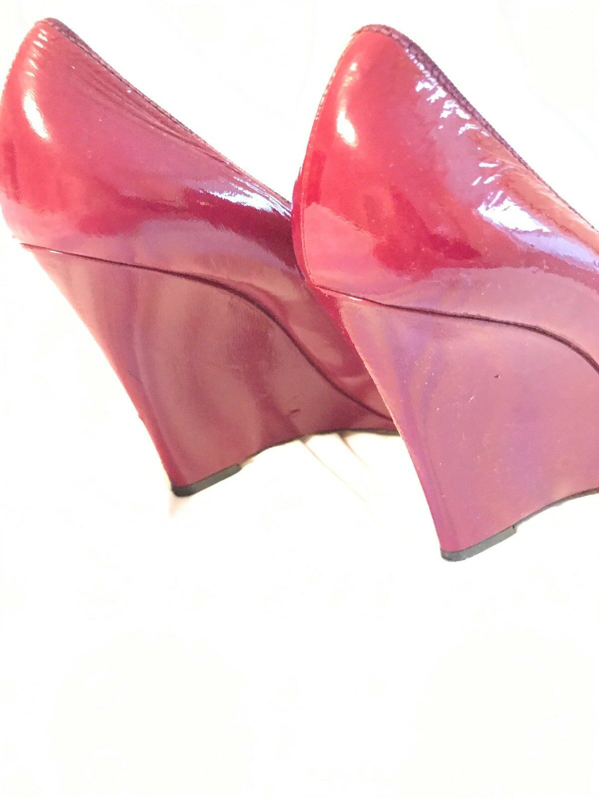 Moschino Rosette Patent Patent Patent Stiletto Wedge Pump 01a786