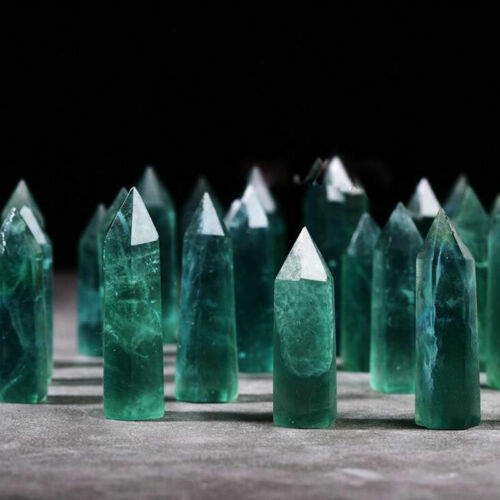 Natural Fluorite Amethyst Point  Rose Crystal Quartz Healing Hexagonal Wand OET
