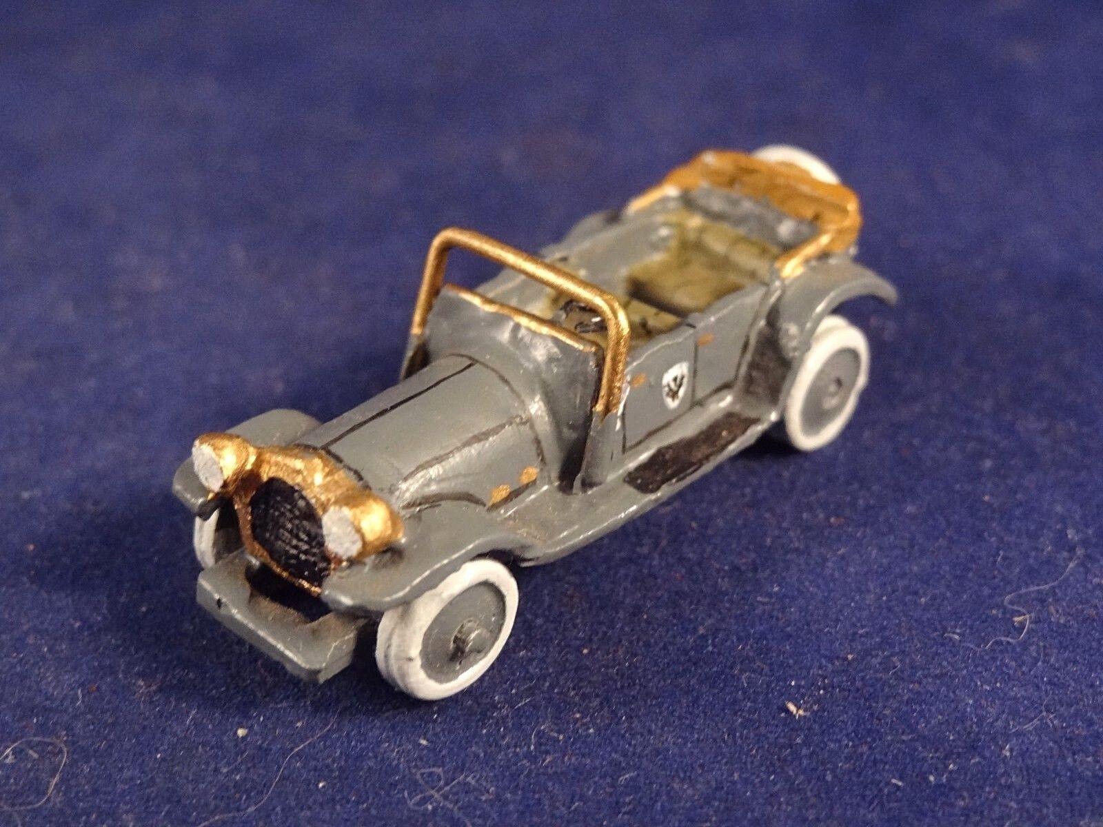 Ancien jouet voiture miniature décapotable plomb étain  années 1920 1920 1920 L : 4 cm 01775a