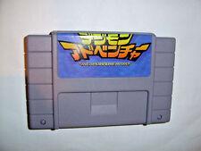 Digimon Adventure platform game for Nintendo SNES Super Famicom console Brazil!