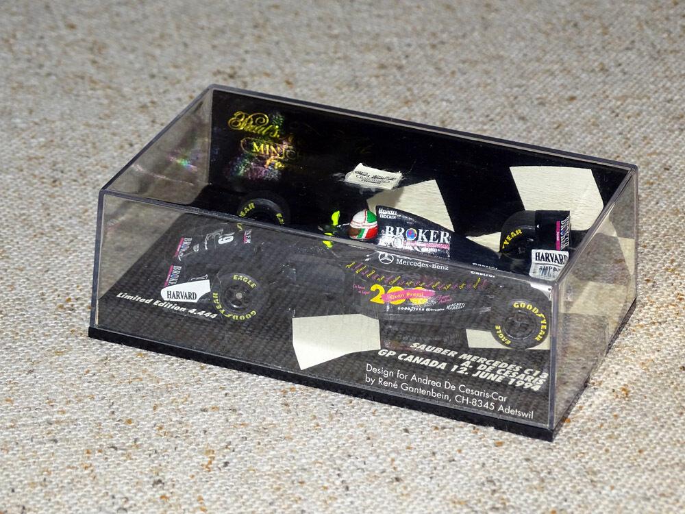 Minichamps Sauber Mercedes C13  29 Andrea De Cesaris 1 43 Canadian GP 1994 - OVP