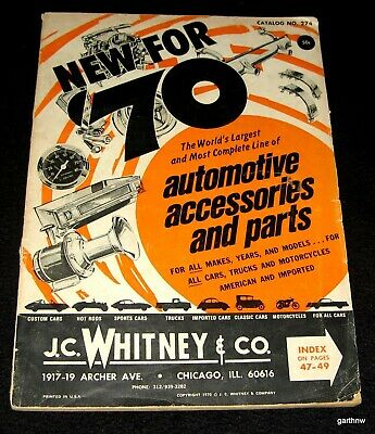 AUTOMOTIVE ACCESSORIES & PARTS 1970 J C  WHITNEY & CATALOG ALL MAKES &  MODELS | eBay