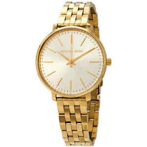 Michael Kors Pyper Crystal Yellow Gold-tone Dial Ladies Watch MK3898