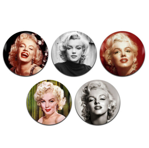 5x Marilyn Monroe Classic Movie Actress Actor 25mm 1 Inch D Pin Button Badges