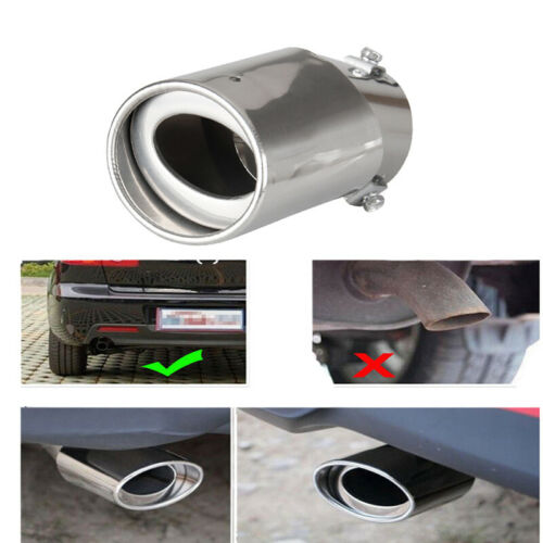 Stainless Steel 60mm Car Exhaust Tail Pipe Muffler Tip Pipe For Audi Nissan Ford