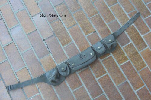 Gürtel-Tasche Goa Zipfel Leder Mittelalter larp belt sac utility inde biker psy5