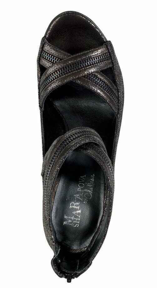 230 Cole Cole Cole Haan Shanley Back Zip Strap Dress Sandals shoes Womens Black 7.5 3139fe