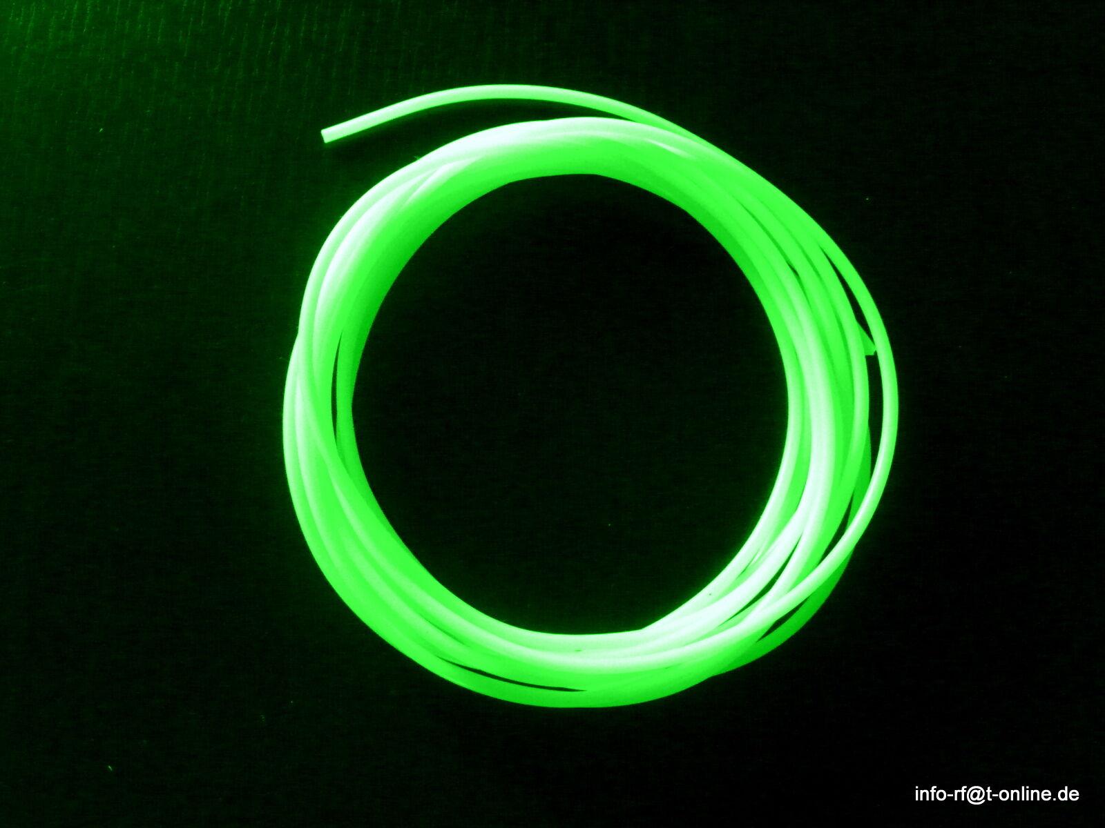 50m Leuchtschlauch Fluo selbstleuchtend 4 mm Meeressystem Meterpreis