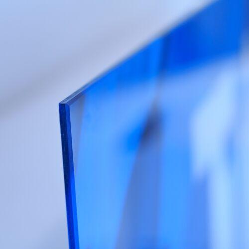 Acrylglasbilder Wandbilder Druck 140x70 See Gebirge Wald Landschaft