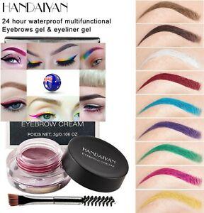 Festival-Bright-Multi-colored-Waterproof-Eyebrows-Cream-Eyeliner-Gel-Pot-Brush