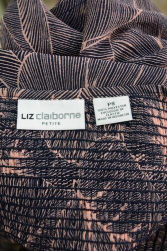Pink /& navy leaf print sleeveless chiffon blouse PS Details about  /Liz Claiborne