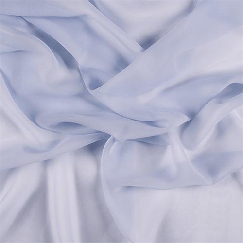 Fabric By The Yard Steel Blue Wide Silk Chiffon