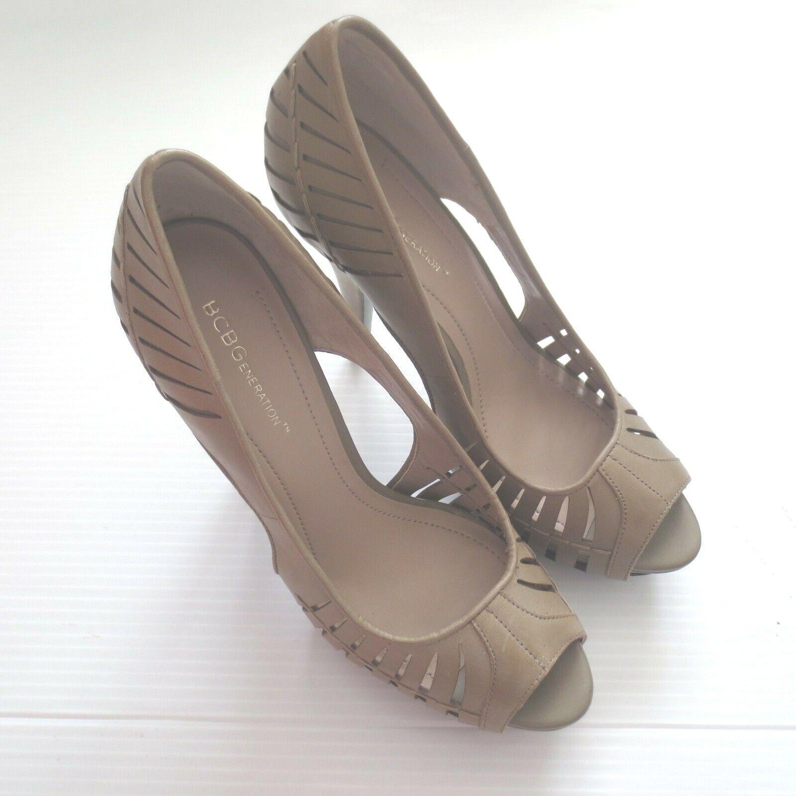 BCBGeneration BG-Evie Leather schuhe - Farbe Khaki - Größe 10B 40 - NEW