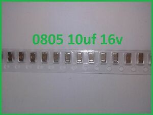 Condensateurs CMS SMD 0805 220pf à 10uf    SAMSUNG dimensions 2x1,2mm