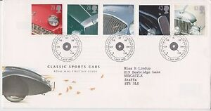 GB-ROYAL-MAIL-FDC-FIRST-DAY-COVER-1996-SPORTS-CARS-STAMP-SET-BUREAU-PMK
