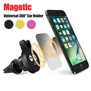Universal-360-Handy-GPS-Lueftungsschlitz-Magnetisch-Staender-Auto