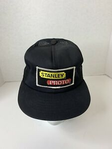 Vtg-70s-80s-Stanley-Proto-Tools-SnapBack-Patch-Trucker-Hat-Cap-USA