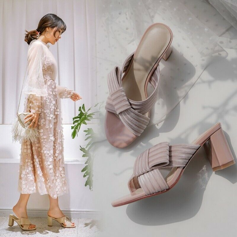 Ladies donna Bow Bow Bow Summer Sandals Slipper Indoor Peep toe scarpe Casual Vogue US4-8 ff7f02