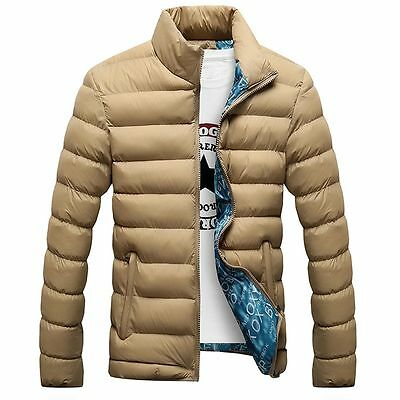 Fashion Mens Warm Down Jacket Slim Casual Overcoats Winter Coat Plus Size