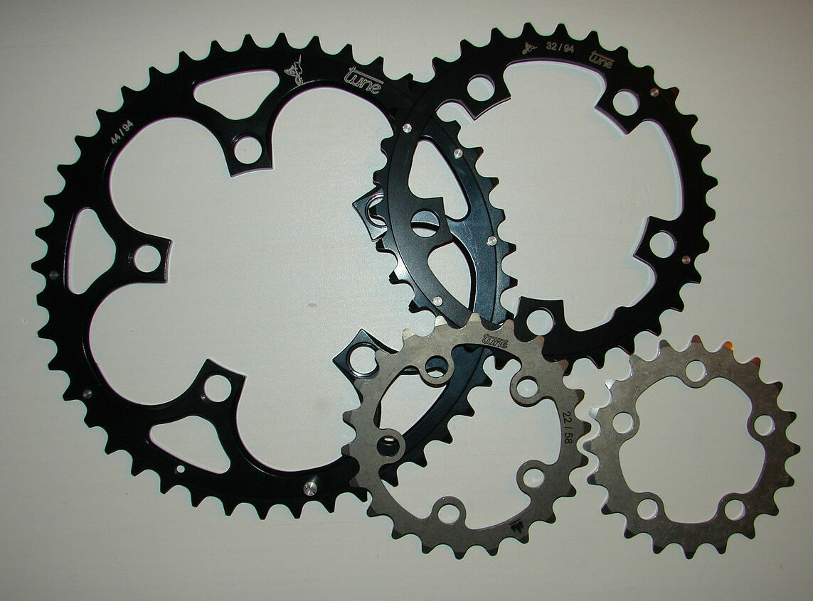 Tune Kettenblatt Triebtreter Compact LK 58  BCD 94 chainring Retro NOS MTB Titan  waiting for you