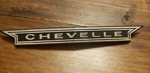 66 CHEVELLE Grille Emblem, Original Used