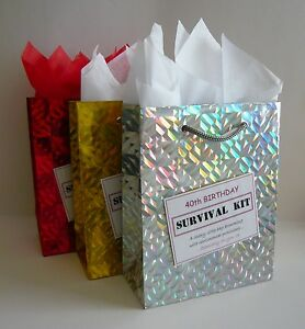 Image Is Loading FEMALE 40th Birthday SURVIVAL KIT Humorous Gift Idea