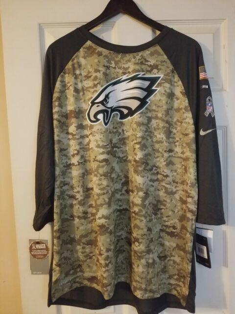 low priced 2471b 8a7b8 Philadelphia Eagles 2017 Nike Salute to Service Men's 3/4 Sleeve T Shirt  Size XL