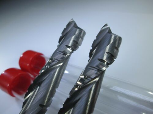 "LOT TMA CARBIDE 1//2/"" ROUGHING ENDMILLS LONG 4/"" MILLING ROUGHER LENGTH 2 PCS"