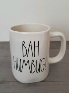 NEW-RAE-DUNN-by-Magenta-BAH-HUMBUG-Coffee-Tea-Mug-Farmhouse-Christmas-Decor