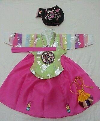 Korean Hanbok Traditional Costume Girl's Age 1 Korean Dress Hanbok dolbok-S1.