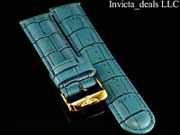 Invicta Lupah Genuine Leather 24mm Baby Blue Replacement Strap Authentic