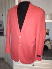 NWT $150 Alan Flusser Spiced Coral Linen Blend Spring Blazer Sportcoat XL XLarge