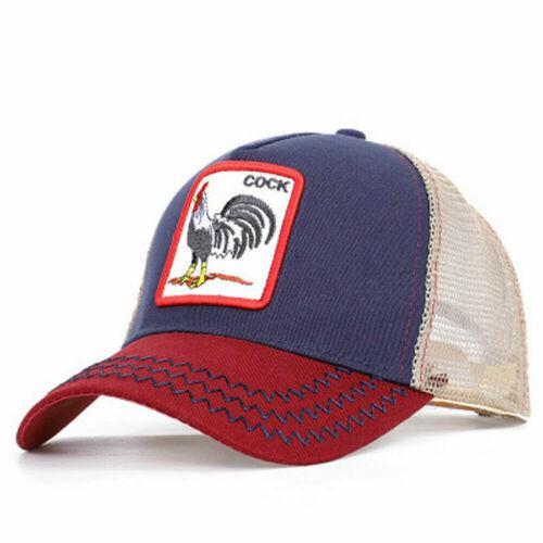 ANIMAL PRINT TRUCKER Hat Ajustable Snapback Cap ANIMAL FARM Cock Woodpecker lion