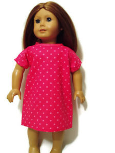 Hot-Pink-w-Polka-dots-Hospital-Gown-fits-American-Girl-Dolls-18-034-Doll-Clothes