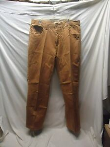 BAREFOX Royal DENIM Men's Brown Relaxed Jeans Size 36 x 32 READ!!!
