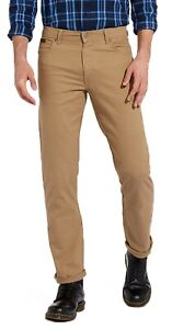 Wrangler-Texas-Stretch-Jeans-Mens-Beige-Brown-Regular-Soft-Fabric-TA-Chino-Style