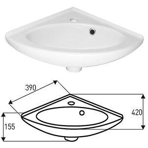 design eck handwaschbecken h ngewaschbecken waschtisch badezimmer waschplatz ebay. Black Bedroom Furniture Sets. Home Design Ideas