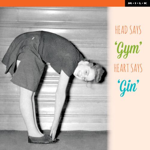 Head Says Gym Heart Says Gin Birthday Greeting Card Square Milk Range Cards