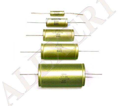 4pcs 1uF 250V 5/% K71-4 Polystyrene capacitors Hi-End NOS