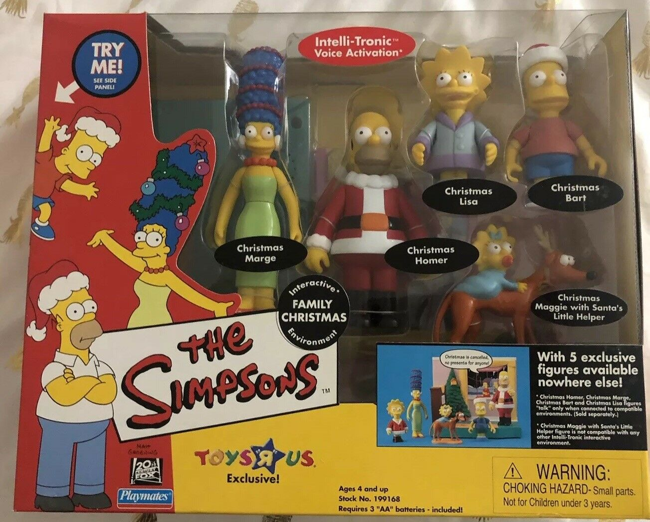 Simpsons Interactive Family Christmas - Marge, Homer, Lisa, Bart, Maggie