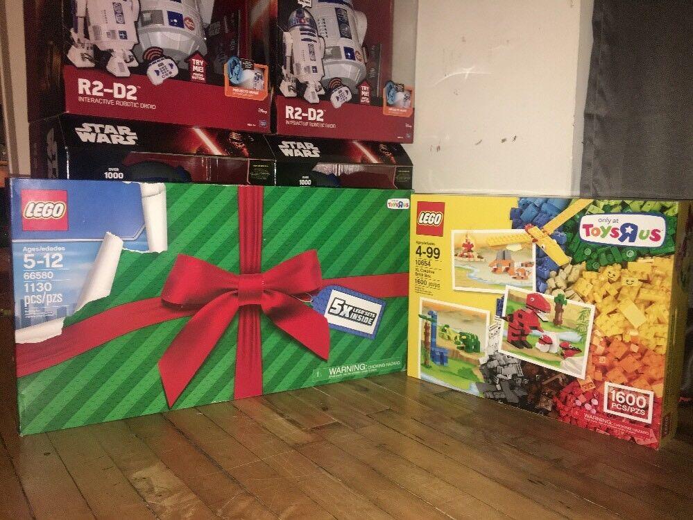 Lego Juguetes R Us Exclusive Box Set Lote De 2 diciendo adiós ladrillo Headz 2730 piezas