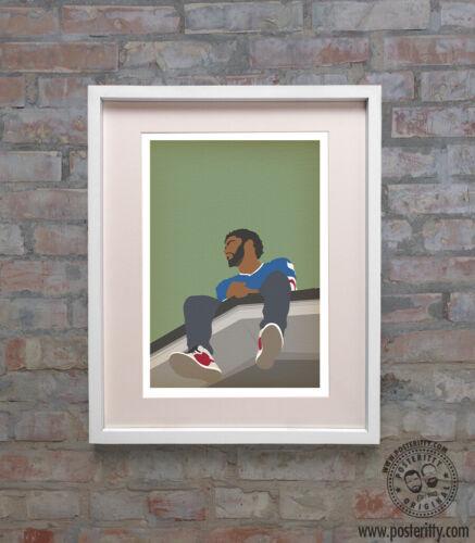 J Forrest Hills Minimalist Music Print Minimal Poster Posteritty Art COLE