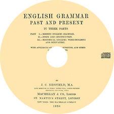 English Grammar Past & Present (1898) Vintage Language Training Book on CD