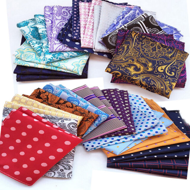 Lot 5//10//15 Pcs Men/'s Silk Handkerchief 10/' Paisley Pocket Square Wedding Hanky