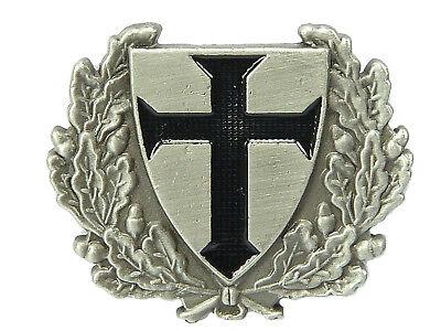 PIN Schild mit Eichenlaub schwarzes Kreuz Ritter  aus Metall Ansteckpin # 84 Neu