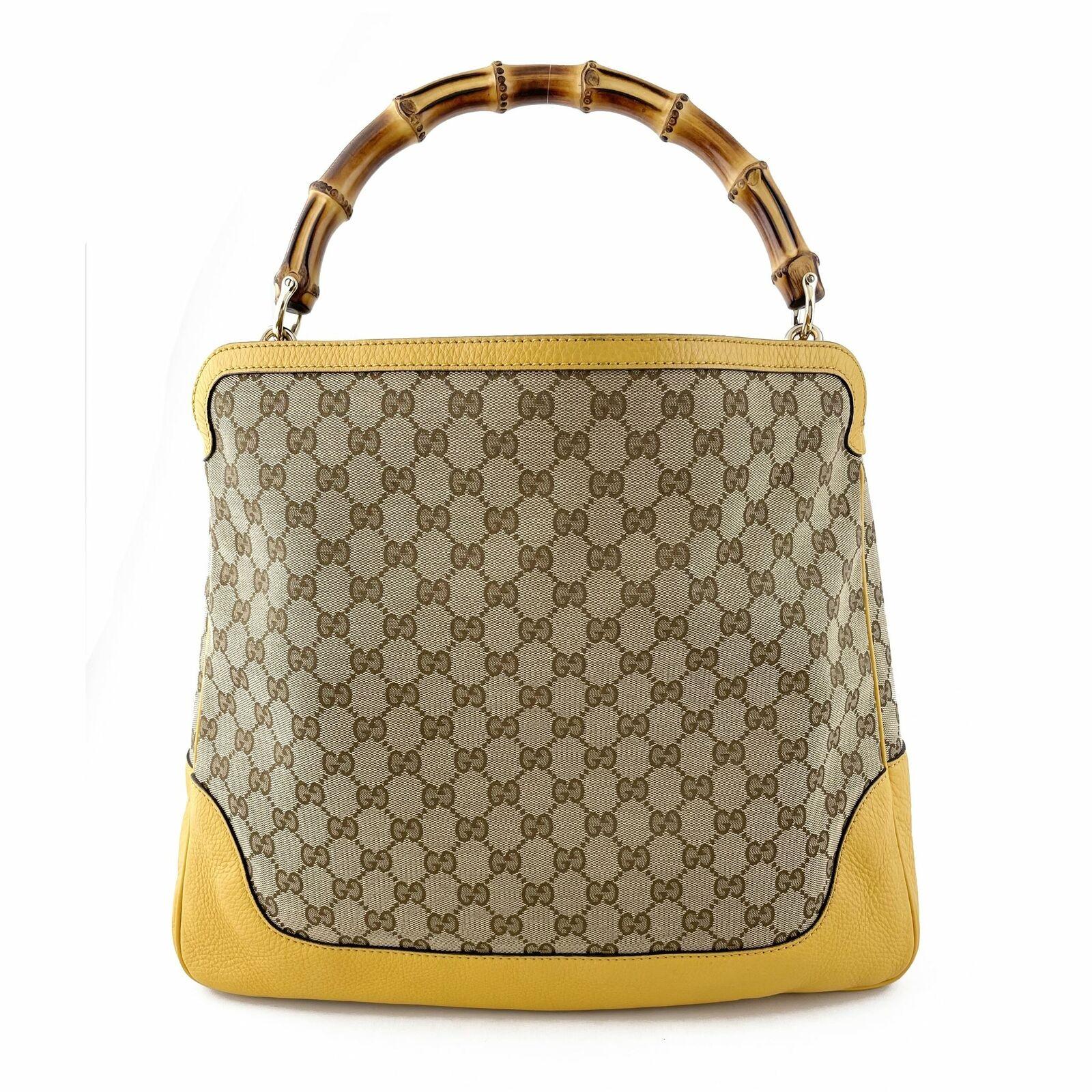 Gucci GG Canvas Diana Bamboo Shoulder Bag - Beige… - image 3