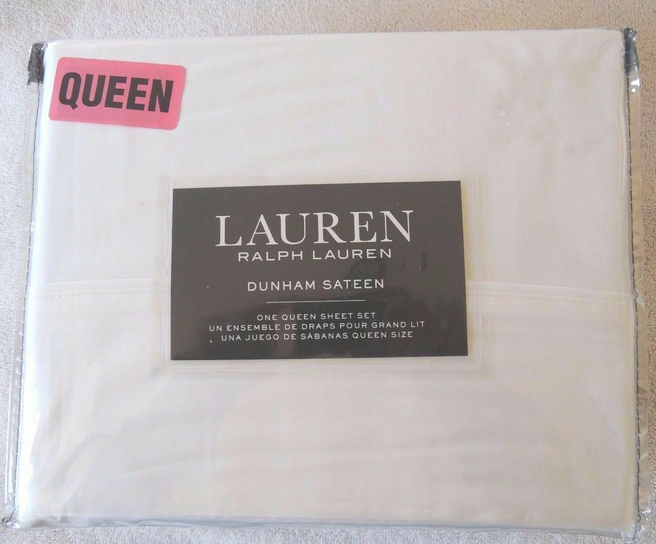 2 SETS Polo Ralph Lauren Dunham Queen Sheet Set Weiß Fast Ship 300 Thread