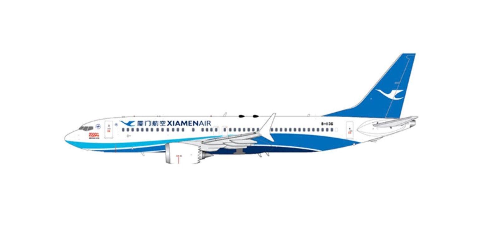 JC WINGS JCLH4109 1 400 XIAMEN AIRLINES BOEING 737-8 MAX 2000TH REG  B-1136