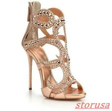 9365cfad7 item 3 Womens Glitter Rhinestone Stiletto High Heels Peep Toe Hollow Gladiator  Sandals -Womens Glitter Rhinestone Stiletto High Heels Peep Toe Hollow ...