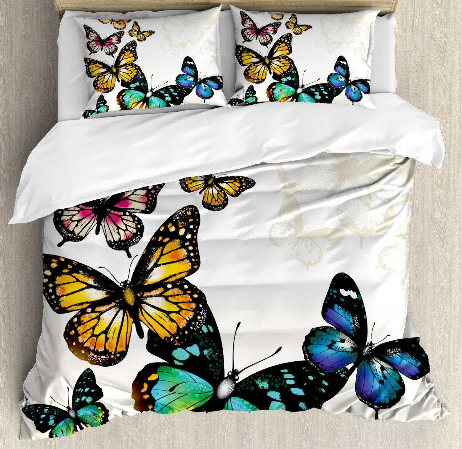 Coloreeful Duvet Cover Set with Pillow Shams Monarch Shades Ombre Print